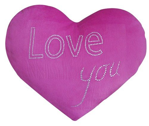 Herzkissen mit Strass –  Love You