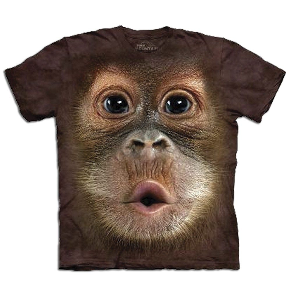 T Shirt Big Face Orang Utan Geschenkidee At