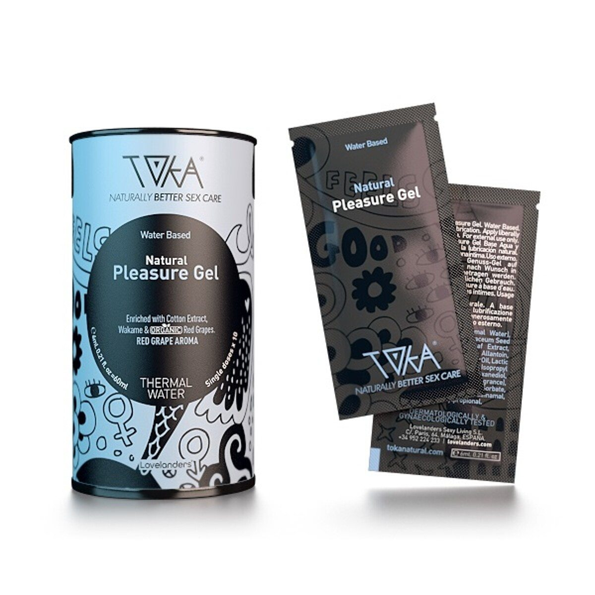Toka Natural Pleasure Intimgel auf Wasserbasis