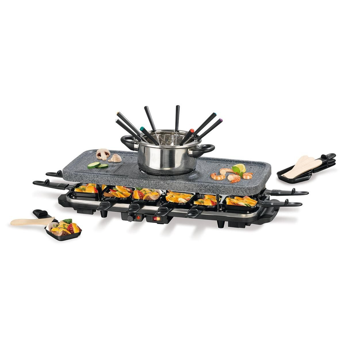 2in1: Fondue- & Raclette-Set