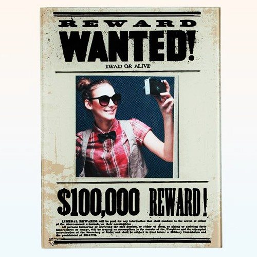 "Glasrahmen ""Wanted"""