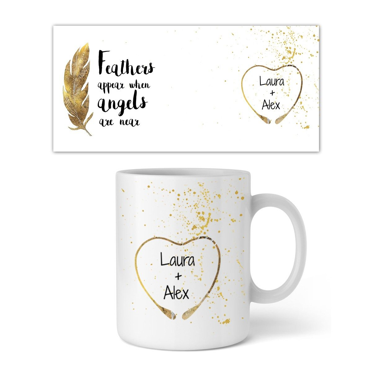 PERSONALISIERBARE TASSE - FEATHERS APPEAR