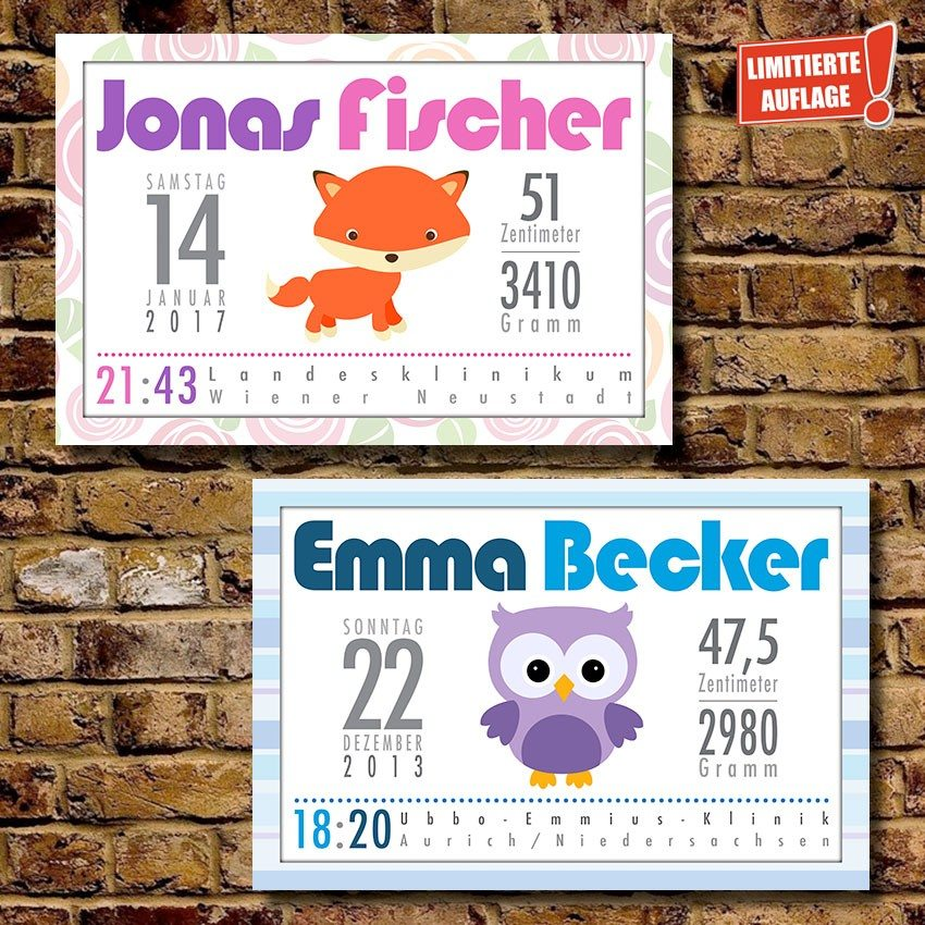 Personalisiertes Baby-Poster