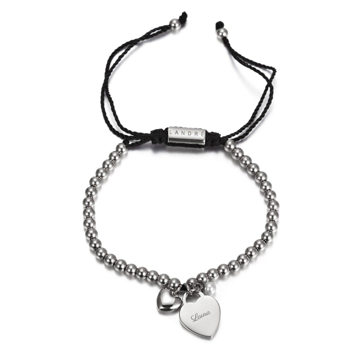 "PERSONALIZED ""CALM"" BRACELET WITH HEART CHARM Gesamtansicht"