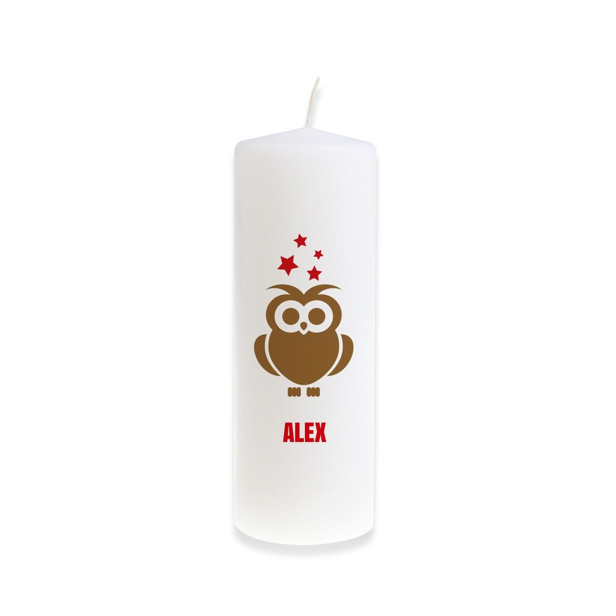 PERSONALIZED CHRISTMAS OWL CANDLE