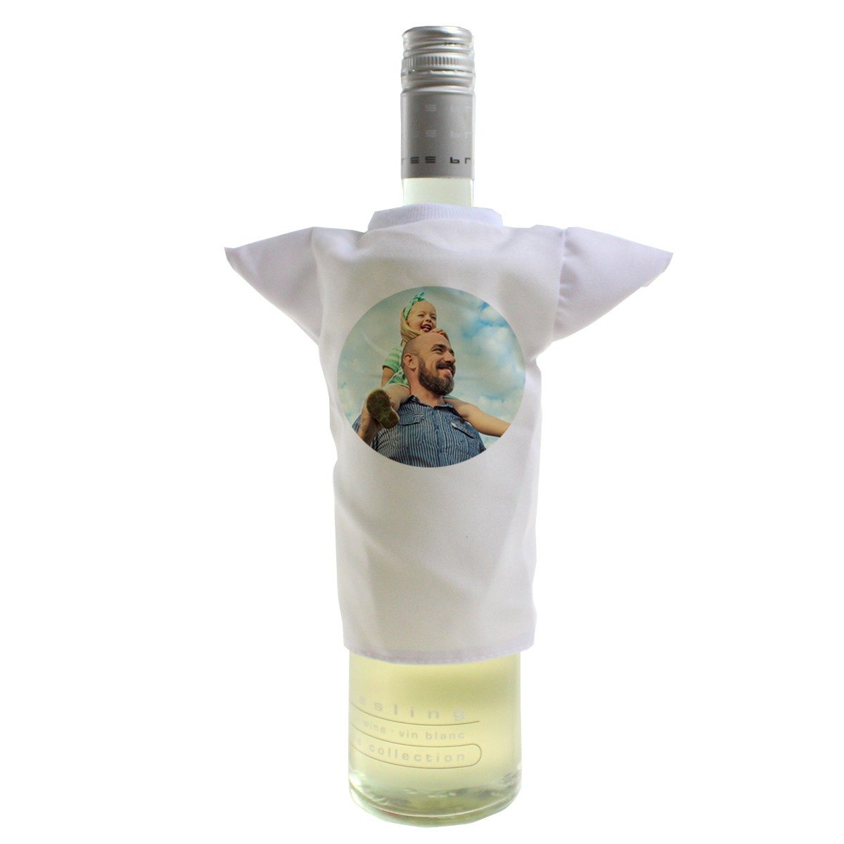 PERSONALIZED MINI BOTTLE T-SHIRT WITH PHOTO PRINT