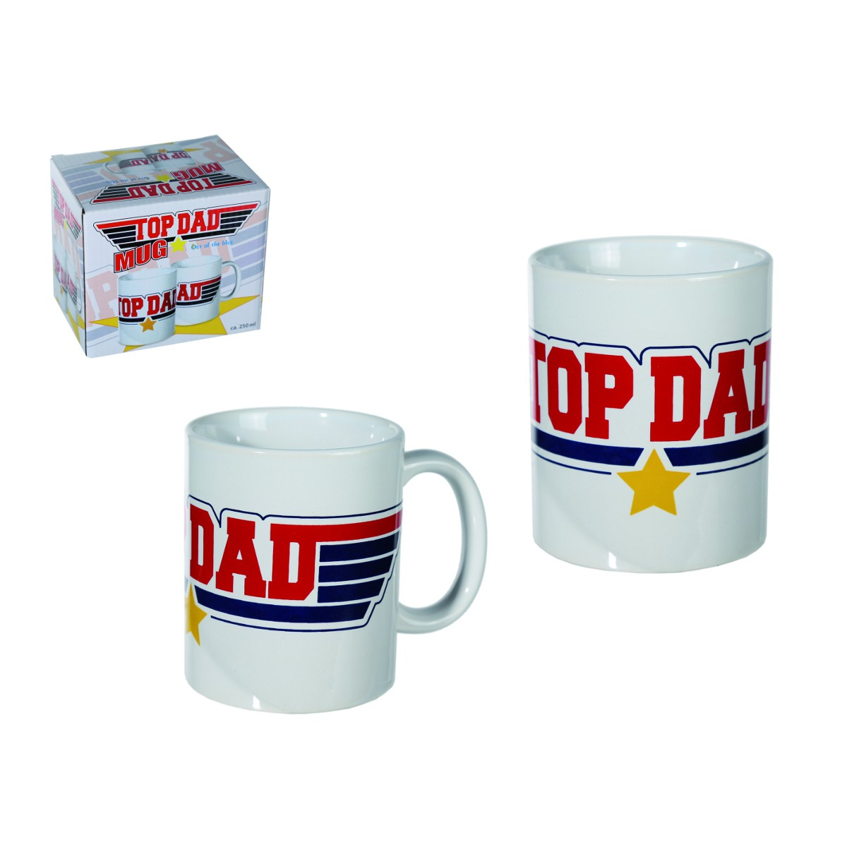 Steingut-Becher Top Dad