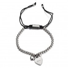 """PERSONALIZED """"CALM"""" BRACELET WITH HEART CHARM Gesamtansicht"""