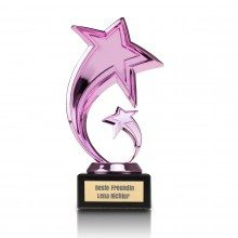 PERSONALIZED PINK STAR TROPHEE