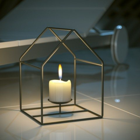 Romantic candle house