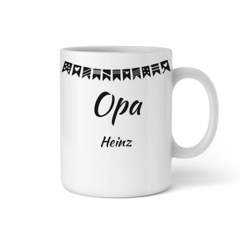 """PERSONALIZED CUP WITH GARLAND """"GRANDPA"""""""