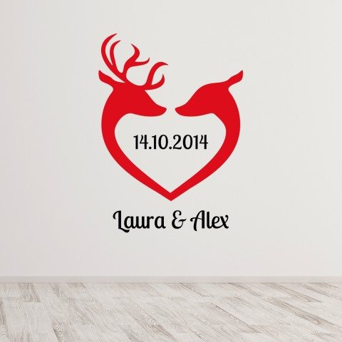 PERSONALIZED LOVE DEER WALLTATTOO Titelbild